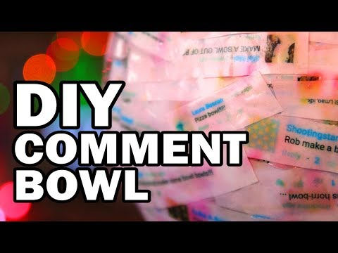 DIY Comment Bowl Made From Comments About Bowls – Man Vs Bowl