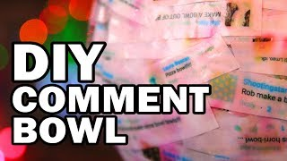 🥣DIY Comment Bowl Made From Comments About Bowls - Man Vs Bowl