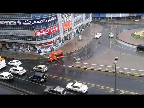 Rain in UAE Sharjah Rolla 2017 amazing weather