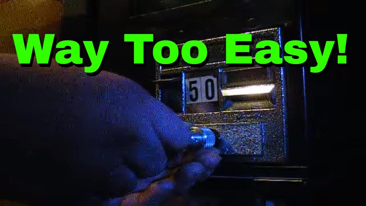 Break Into Vending Machine Using Lock Pick Youtube