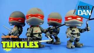 Loyal Subjects Teenage Mutant Ninja Turtles Battle Damaged & Stealth Action Vinyls Video Review