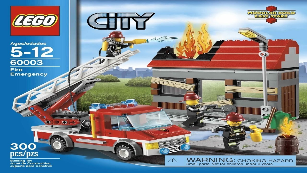 Lego City Instructions For 60003 Fire Emergency Youtube