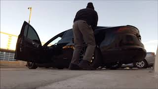 How to wipe down your car before work,..LOL!! and Having a ''BLESSED'' morning at work
