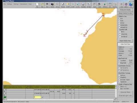 Voyage Planning - entering waypoints