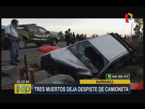 Barranca: tres muertos deja accidente vehicular en la Panamericana Norte