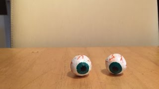 Selfmade Eyes from paper mache
