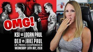 KSI VS LOGAN PAUL PRESS CONFERENCE HIGHLIGHTS | My Reaction
