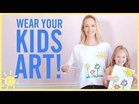 STYLE & BEAUTY   Wear Your Kids Artwork!