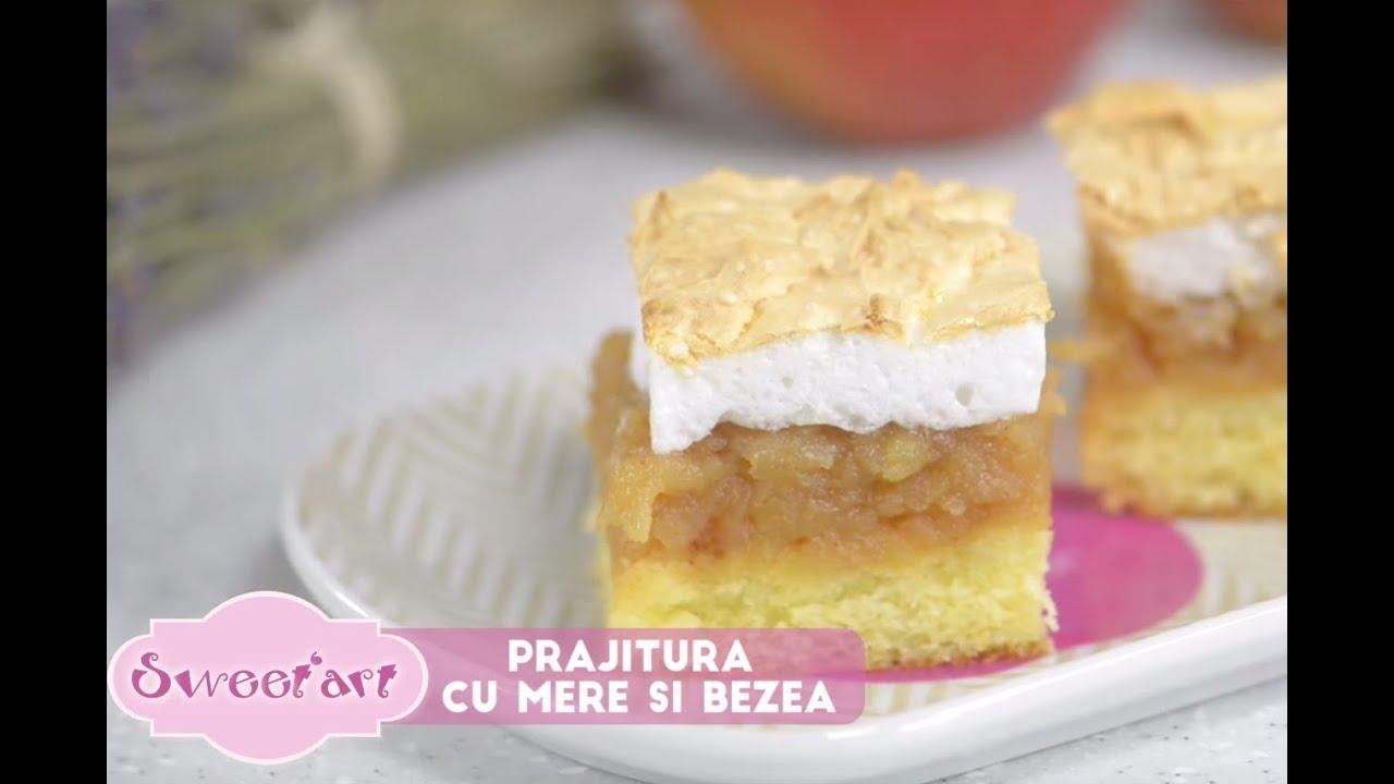 Prajitura cu mere crema de vanilie si bezea fara blat