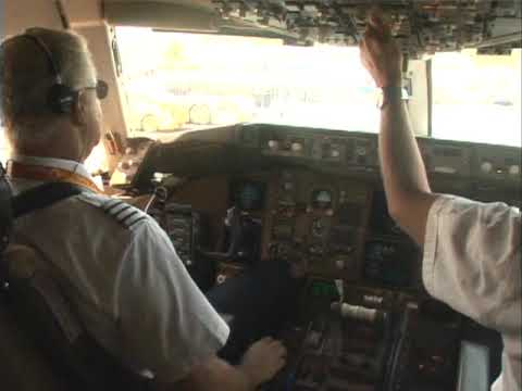 Real cockpit video Amsterdam to Curacao # 3  (Boeing 767-300