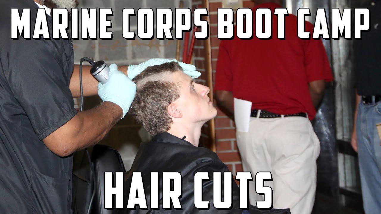 Marine Corps Boot Camp Initial Haircuts  YouTube