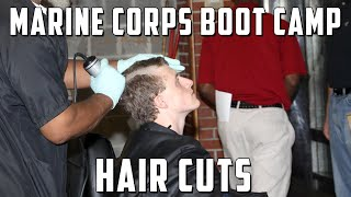 Marine Corps Boot Camp Initial Haircuts