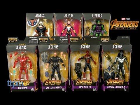 Marvel Legends Avengers Infinity War Iron Man Iron Spider Proxima Midnight Songbird Serpent Society