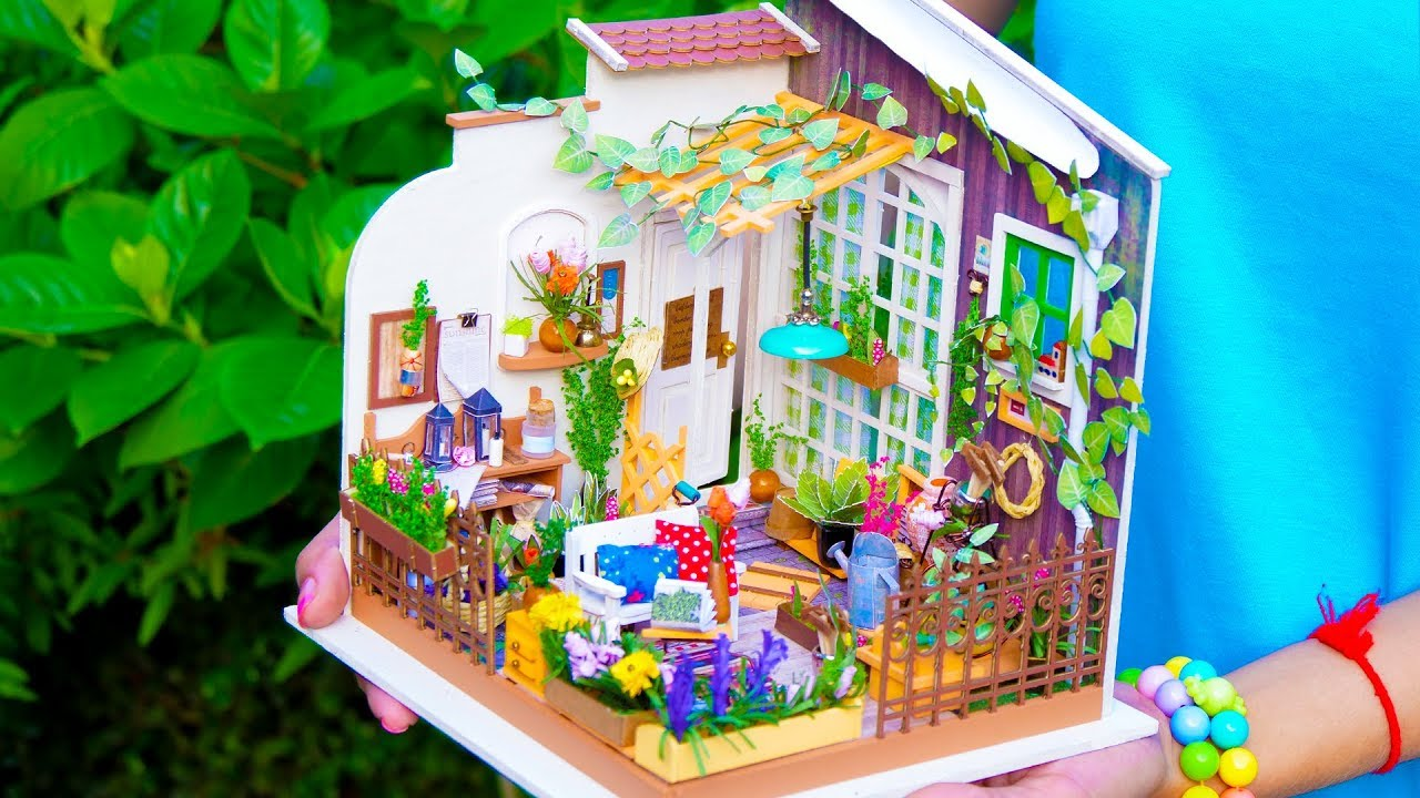diy miniature garden doll house