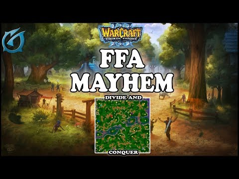 Grubby | Warcraft 3 TFT | 1.30 | FFA on Divide and Conquer - FFA Mayhem