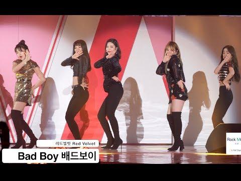 레드벨벳 Red Velvet[4K 직캠]Bad Boy 배드보이, (5인 완전체 무대)@180414 락뮤직