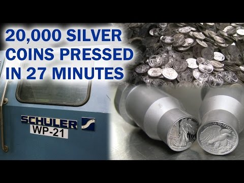 20,000 Silver Coins Pressed in 27 minutes - US Mint Schuler Press