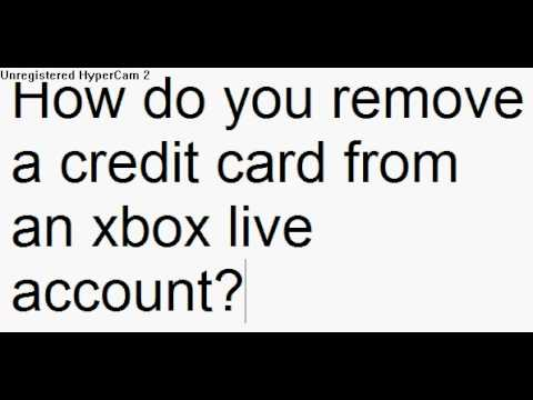 how to remove a credit card from iphone how do you remove a credit card from an xbox live account 20961