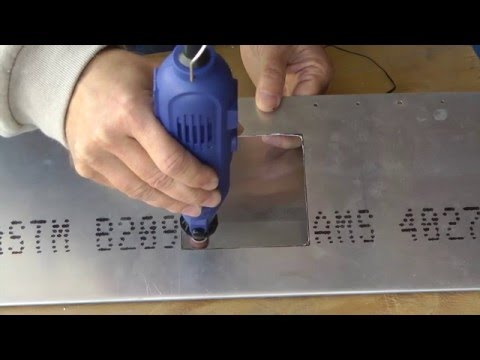 Using Power Tools to Cut Access Openings in Metal Aircraft
