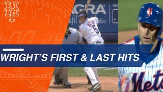 David Wright's first and last Major League hits