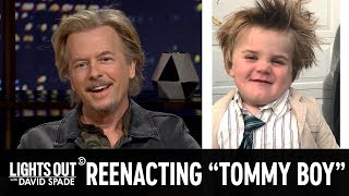 "David Spade Reenacts ""Tommy Boy"" With Mini Chris Farley - Lights Out with David Spade"