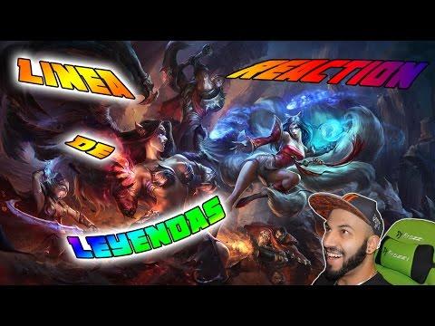 RAP LOL | LINEA DE LEYENDAS | Zarcort, Cyclo, Shark, Keyblade, Jacky | Video reacción