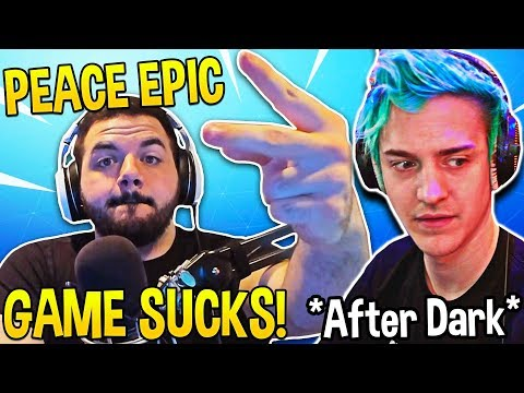 AFTER DARK NINJA & COURAGE *DESTROY* EPIC GAMES with FACTS! (HILARIOUS) - Fortnite Moments