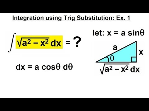 Calculus 2: Integration - Trig Substitution (3 of 28) Integral of SQRT(x^2-x^2) Ex. 1