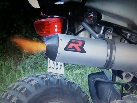 atv suzuki ltz400 & dominator mx2 exhaust + db killer review sound