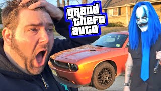 KLOWN STOLE MY DODGE CHALLENGER! Caught on Security Camera NOT CLICKBAIT!