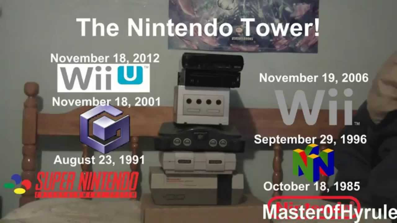 The Nintendo Tower Evolution Of Nintendo Consoles And
