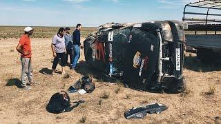 Блогер сел за руль раллийного авто. Сразу жесткая авария!