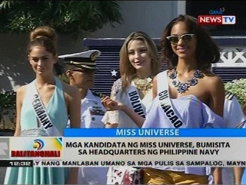 Mga kandidata ng Miss Universe, bumisita sa headquarters ng Philippine Navy