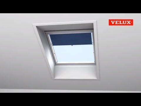 Extremely VELUX Einbauvideo Sichtschutzrollo mit Haltekrallen - YouTube NK67
