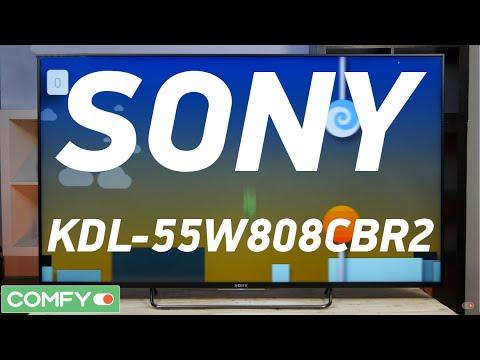 Sony KDL-55W808CBR2 - Android-телевизор с поддержкой 3D - Видеодемонстрация от Comfy.ua