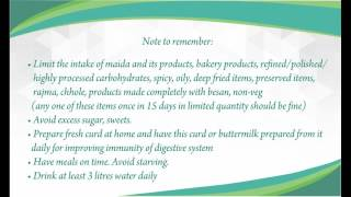 Diet after surgery for fistula