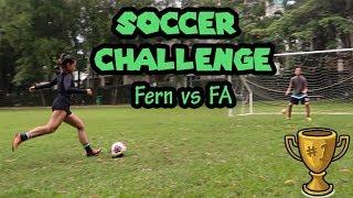 Soccer challenge   Penalty kick & 1vs1   ft. Fa Seng