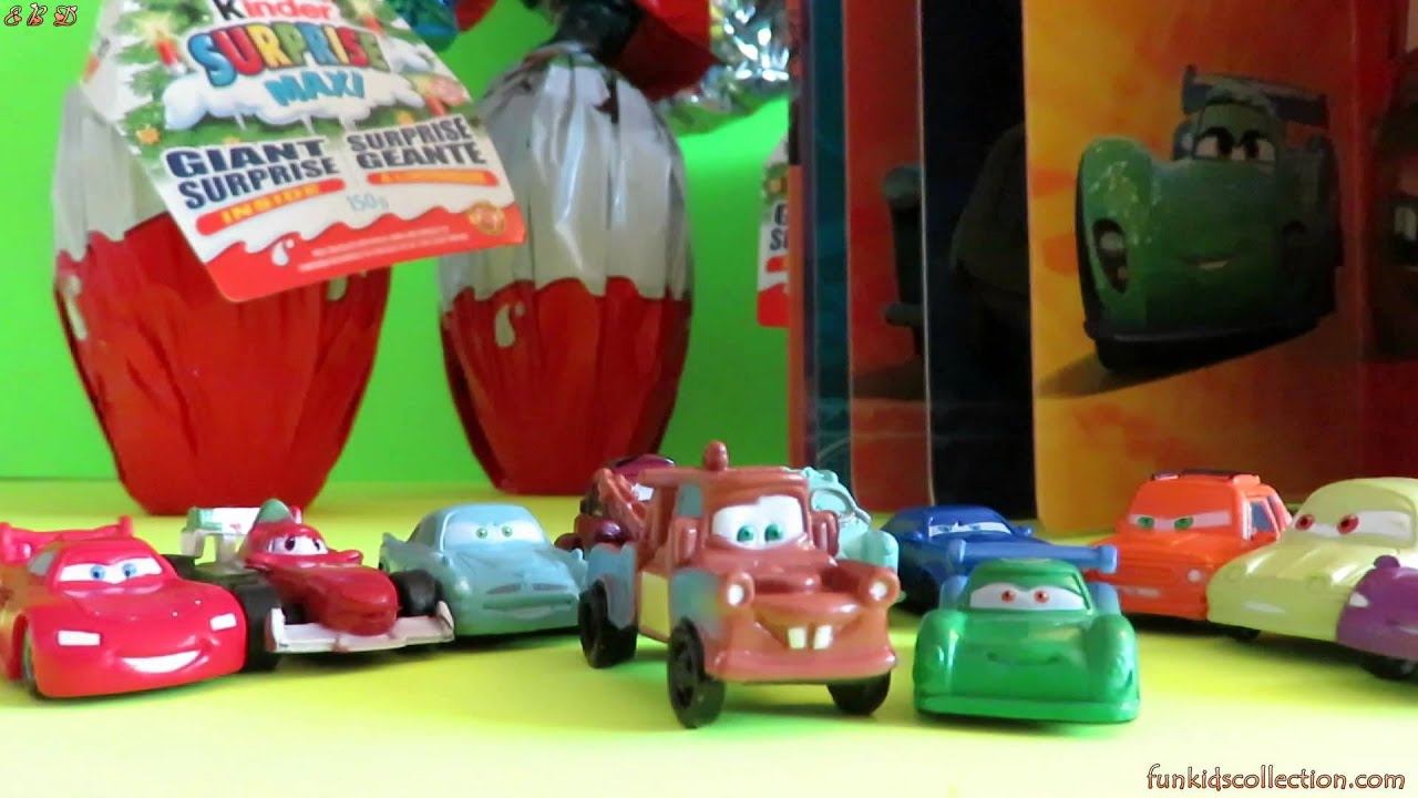 My Busy Books Cool Cars Disney Cars Giant Kinder Surprise Eggs - Cars 2 cool cars book