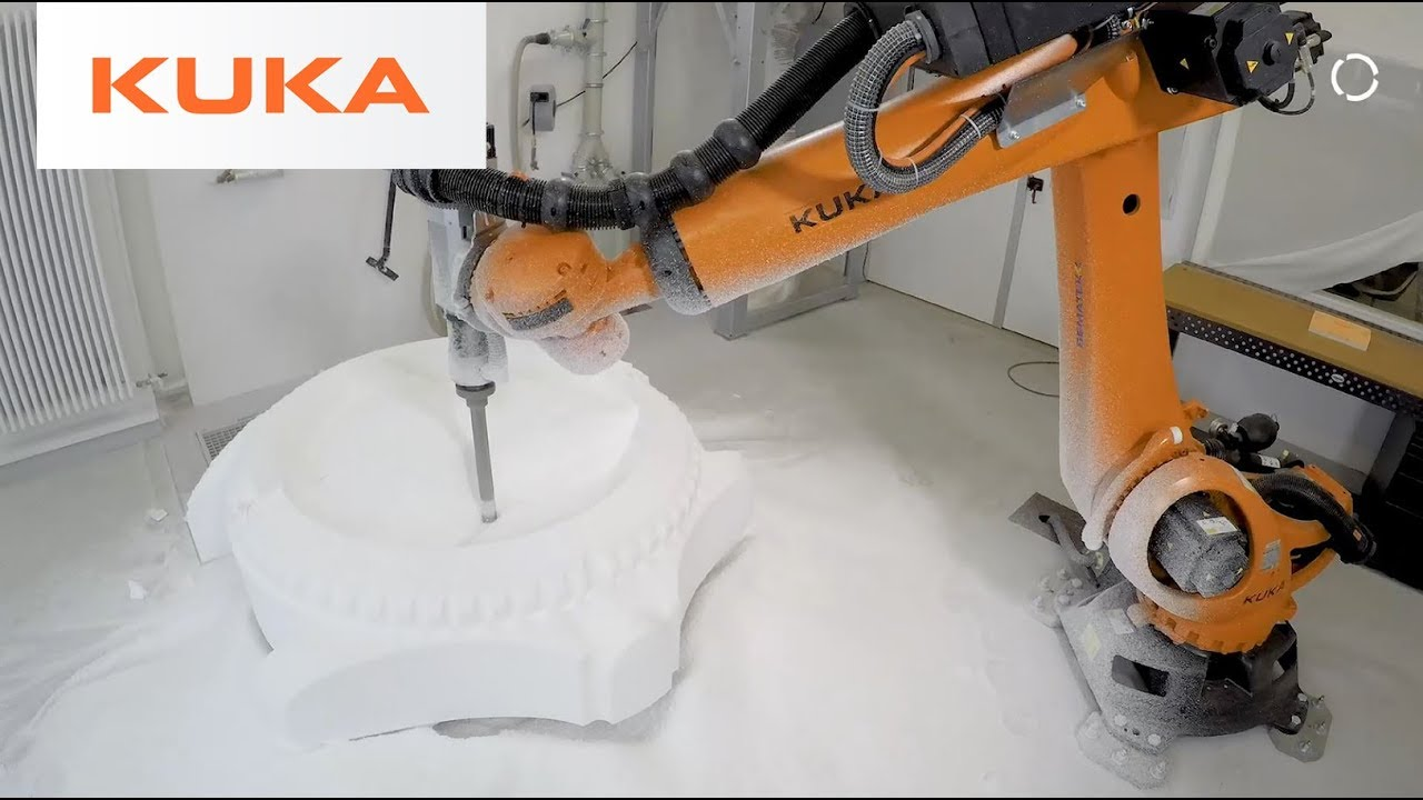 KUKA Robot Mills Foam Sculptures