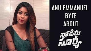vuclip Anu Emmanuel Byte About Naa Peru Surya Second Song Lover Also Fighter Also
