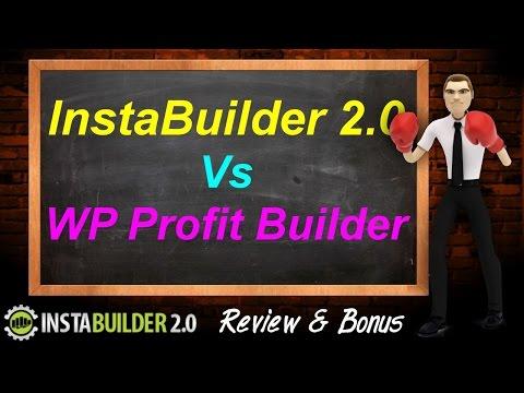 InstaBuilder 2.0 vs WP Profit Builder - InstaBuilder 2.0 Review