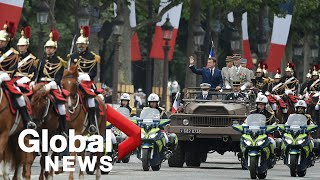 Bastille Day 2021: Macron leads France's traditional military parade