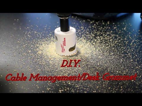 DIY - Cable Management (Desk Wire Grommet)