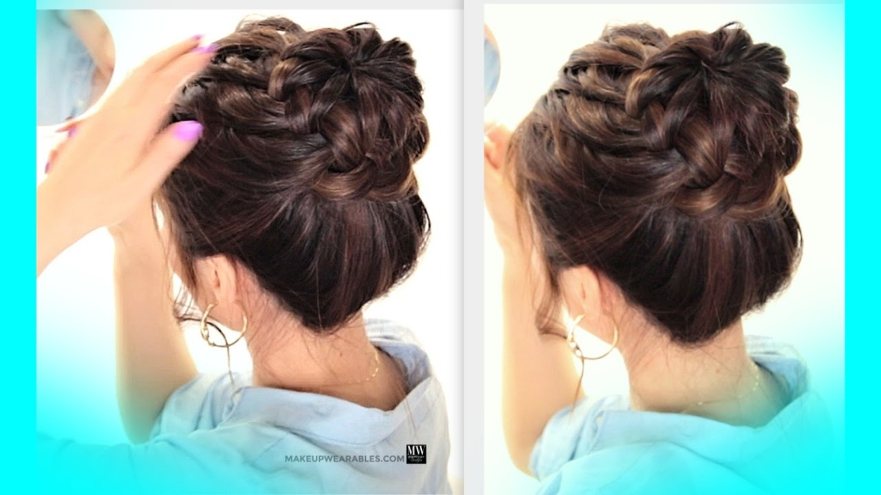 ★starburst braid bun hairstyle | cute school braids hairstyles