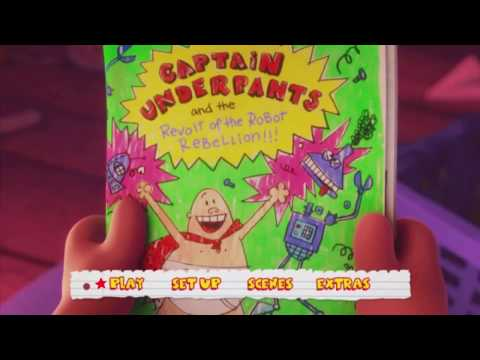 Captain Underpants The First Epic Movie 2017 Menu Dvd Hd Youtube