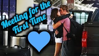 MEETING FOR THE FIRST TIME COMPILATION (long distance relationships)