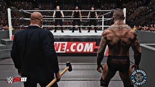 WWE 2K18 The Shield Implodes! (Seth Rollins Breaks up The Shield & Joins The Authority) - RAW 6/2/14