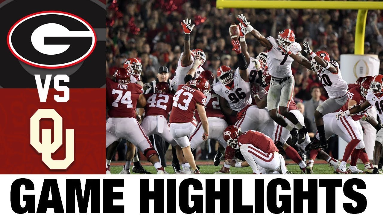 #3 Georgia vs #2 Oklahoma | 2018 Rose Bowl Highlights | 2010's Games of the Decade