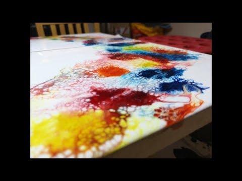 Resin Art - Epoxy Dual Board Pour  (DIY)