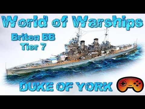 """Duke of York"" T7 Briten BB Gameplay  in World of Warships - Duke of York Gameplay - Deutsch/German"